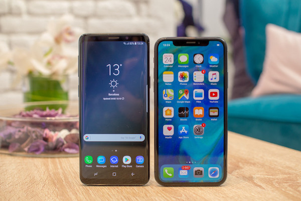 Samsung-Galaxy-S9-vs-Apple-iPhone-X-first-look