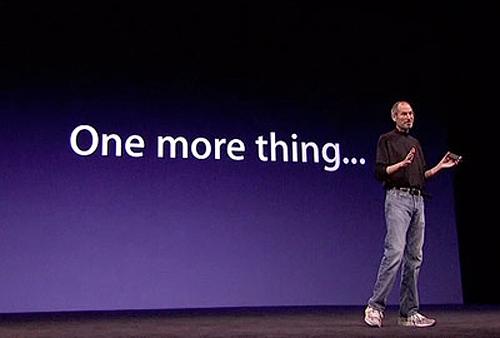Apple не смогла присвоить «One more thing»